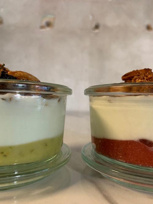 Yogurt bianco naturale 200g + granola home made + composta