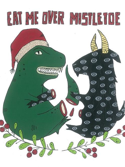 Eat Me Over Mistletoe - bigliettino con busta - Tonicoltello