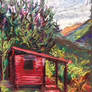 The Red Hut in the Hills