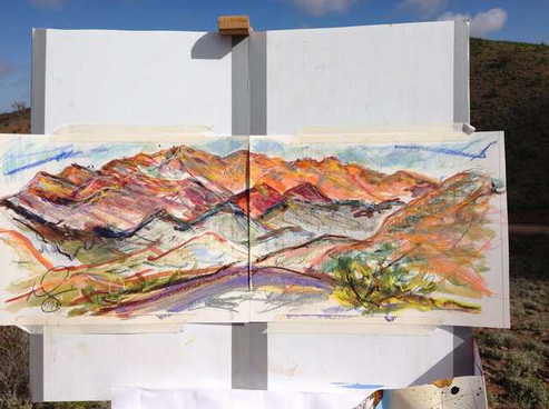 Painting on Glass Gorge Scenic Road