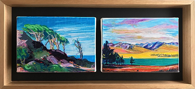5x7 inch Landscape: Dual Slices of Heaven: New Zealand's South Island