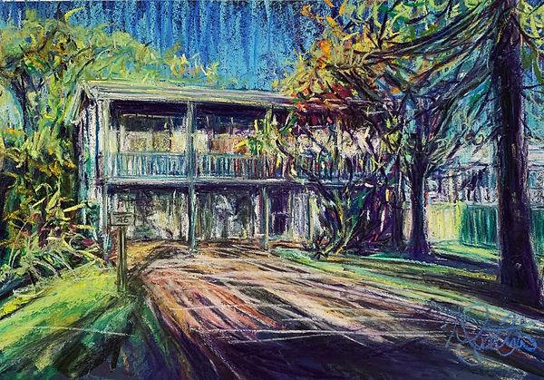 House Portrait Pastel Matthew Tomkins Ro