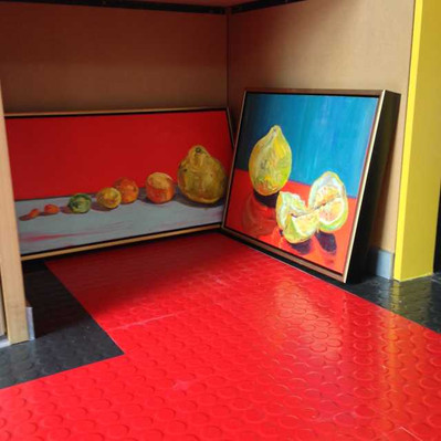 Gallery food on floor