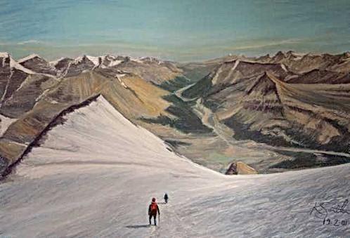 Descending Mt Athabasca Canada