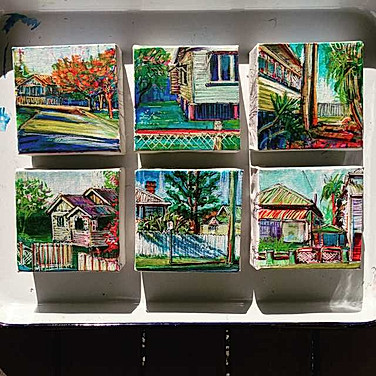 4x4 inch Building Portraits and Streetscapes: Brisbane Series