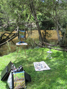 Painting en plein air: Lake Moogerah