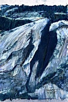 Yosemite Rock Slab and Shadow USA (26.5x19cm)