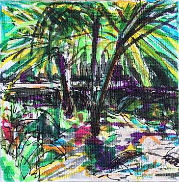 4x4 inch Gardenscape: Annerley Summer Garden