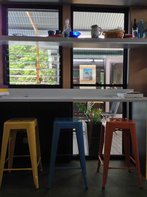 The art bar in the studio