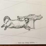 Nerf Gun toting Kitten