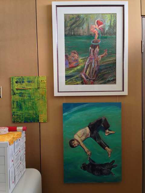 Studio paintings on display April 2015