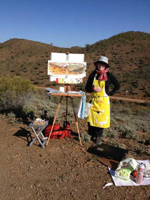 Flinders Ranges. A great day to paint and sketch