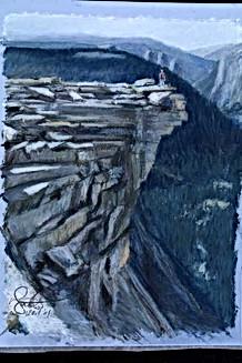 Yosemite Summit USA (26.5x19cm)