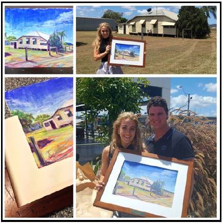 A suprise gift for newlyweds - a portrait of their newly bought home