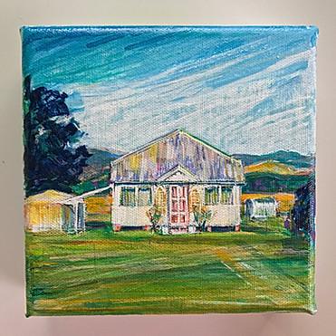 6x6 inch Building Portrait: Ballandean Cottage