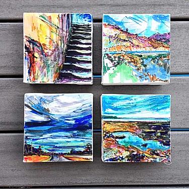 4@4x4 inches: My Tasmania Mini Art Series