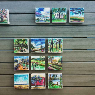 4x4 inch Mini-Art on the deck for a photo shoot!