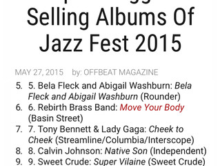 NATIVE SON certified as 8th Best Seller at NO JazzFest 2015