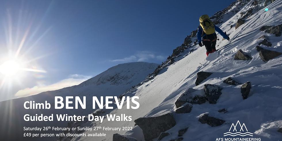 Ben Nevis in Winter 26th February 2022