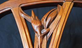 Motif nature sur une chaise art nouveau