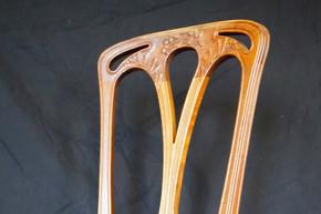 Dossier de chaise art nouveau en bois