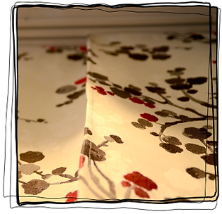 Panneau japonais de tapissier vendéen