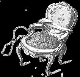 Dessin d'un fauteuil ancien