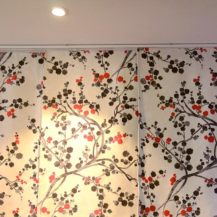 Panneaux japonais motifs fleuris