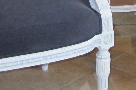 Fauteuil de style Louis XVI restauré