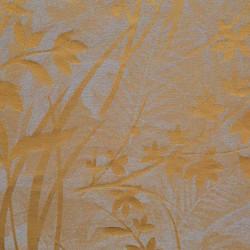 Tissu lin et coton à motifs feuilles