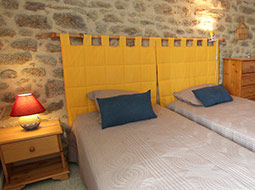 Chambre double du gîte La Chouette