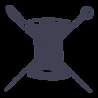 Bobine de fil en dessin