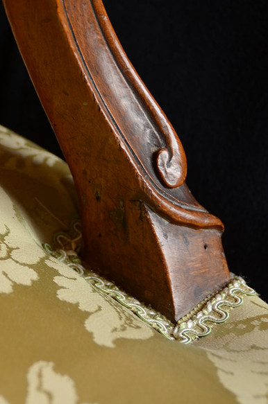 Détail d'un fauteuil ancien relooké