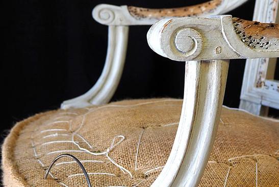 Réfection d'un fauteuil ancien