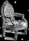 Gravure d'un fauteuil Louis XVI