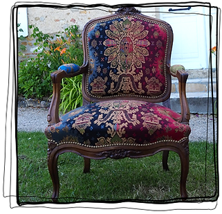 Réfection de fauteuil ancien en Vendée