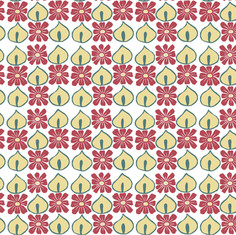 Red Flowers Tile Repeat