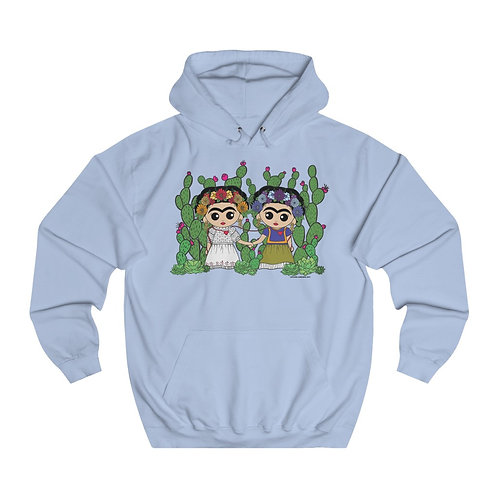 Two Fridas Unisex College Hoodie