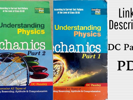 DC Pandey understanding physics pdf free download | best physics book for jee advanced