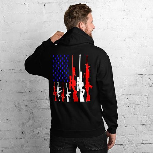RWB Rifle Flag Hoodie