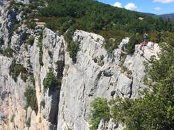 Les falaises des gorges du Verdon