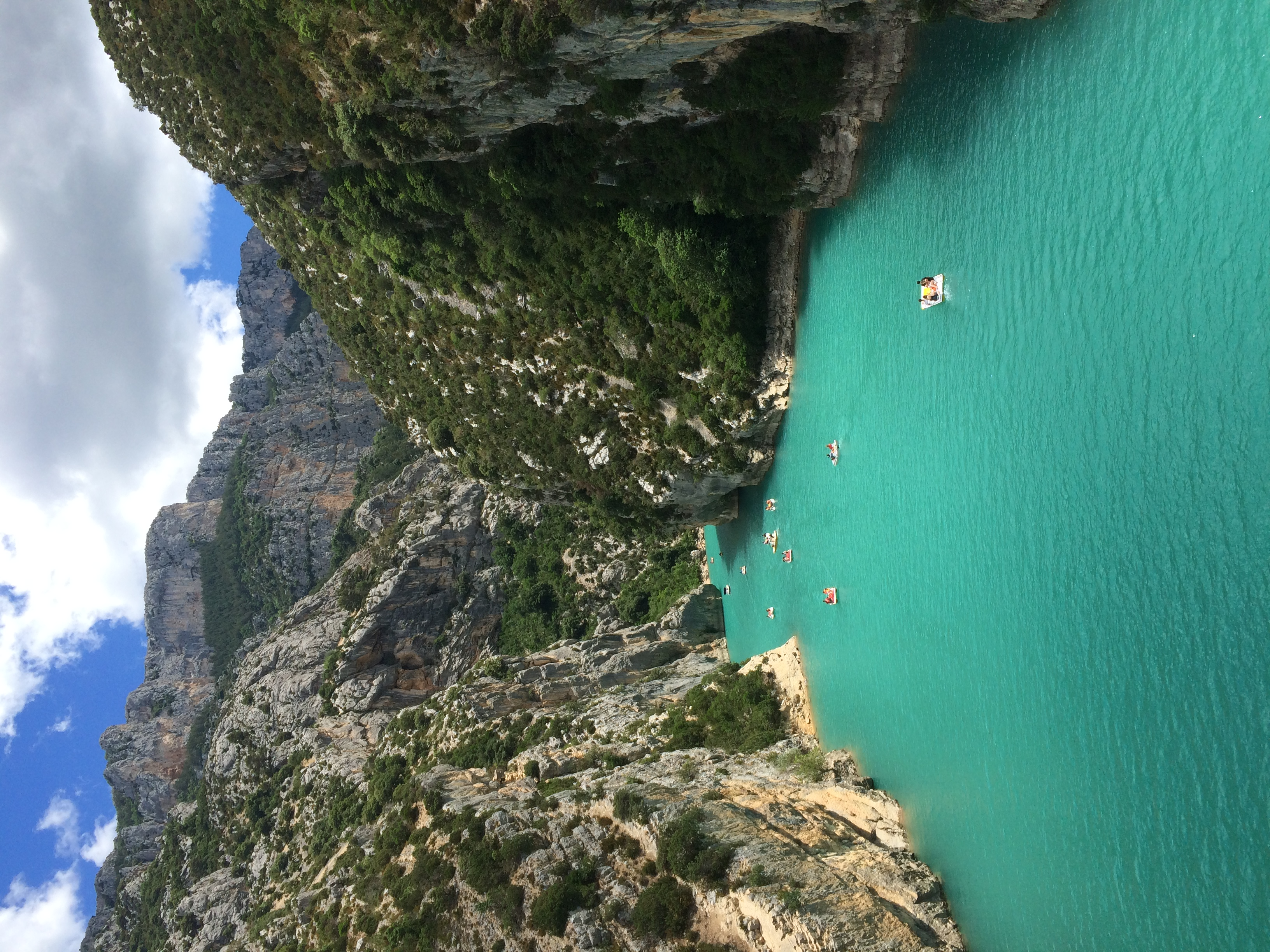Photo des gorges du Verdon dans le V
