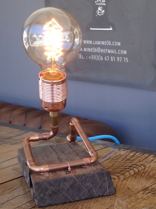 LAMPE DE CHEVET BOIS DE FER