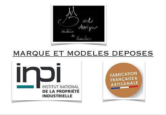 INPI, marque et modele depose.