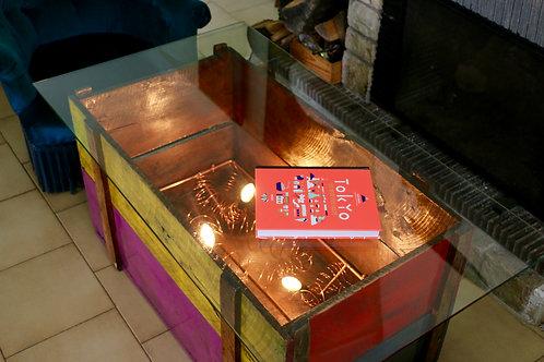 TABLE BASSE COLORS CUIVRE
