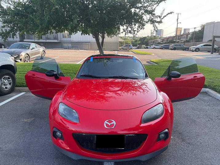 Red 2013 Mazda Miata MX-5 club edition