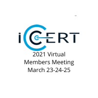 Register / Agenda - iCERT March 2021 Members Meeting (Updated Frequently)