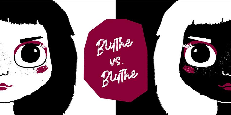 Blythe vs Blythe online Blythe dolls convention logo