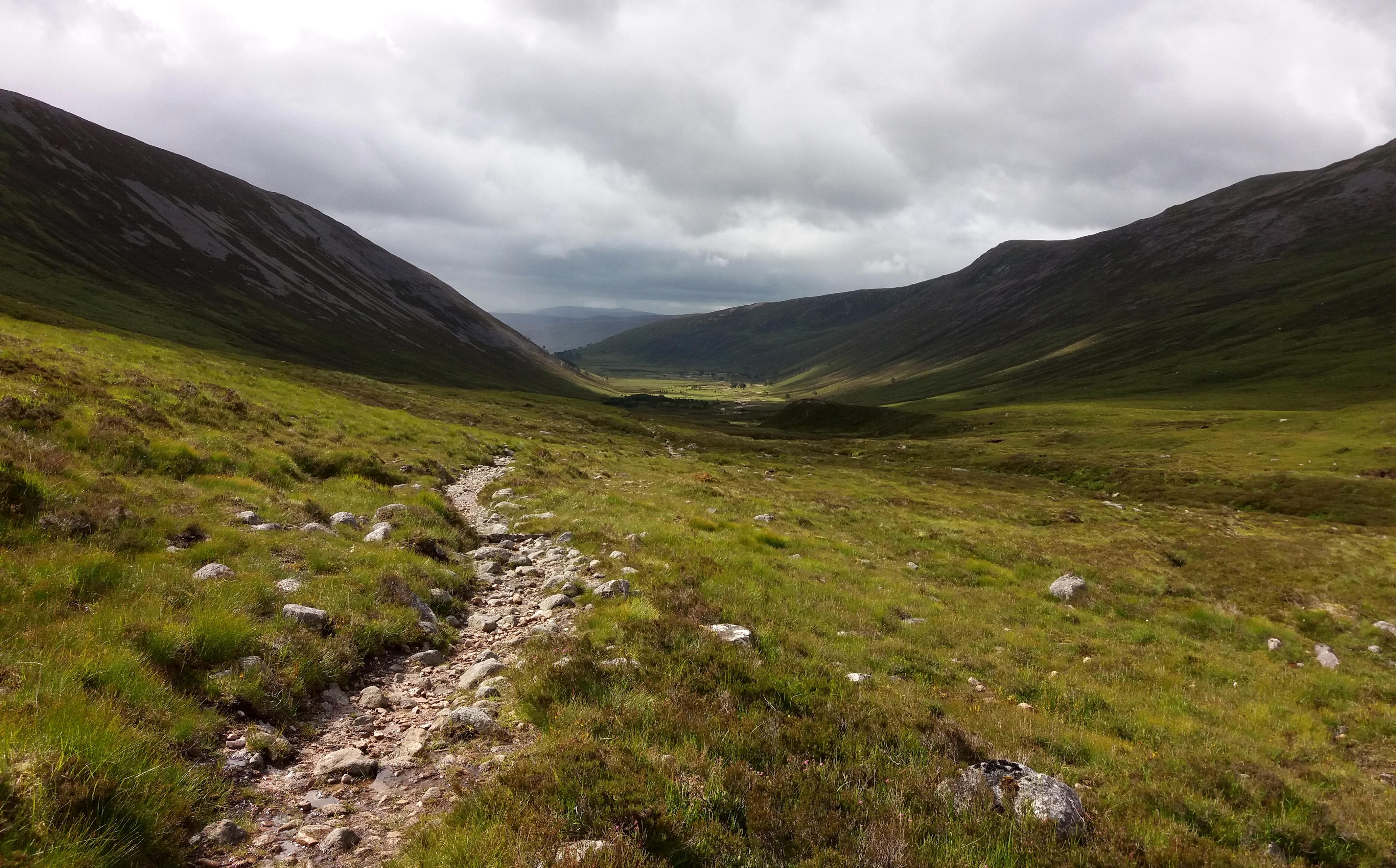 v pohoří Cairngorms