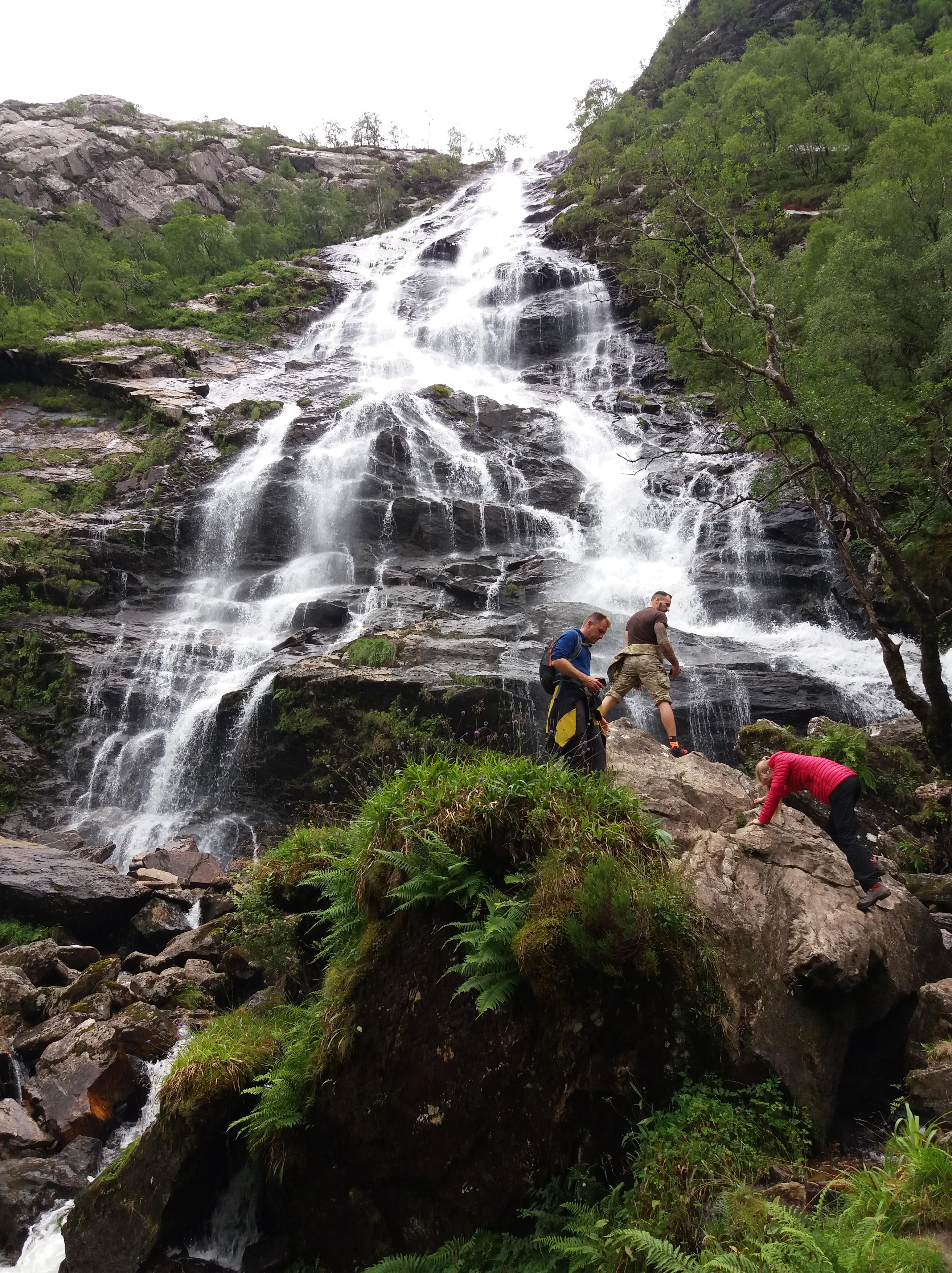 vodopád Steel v Glen Nevis